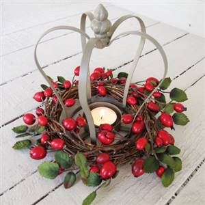 Crown Tea Light Candle Holder