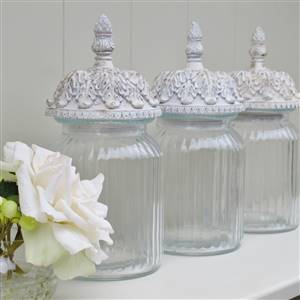 Tea Coffee Sugar Glass Jars