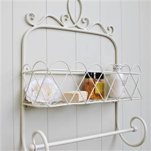 Trellis Wall Shelf Towel Rail