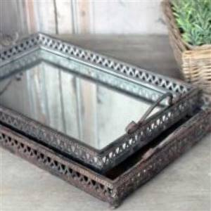 Vintage Mirror Tray x 1