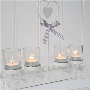 White 4 Tea Light Candle HolderSECONDS