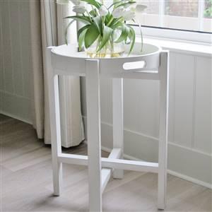 White Folding Tray Table Ashley Range