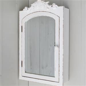 White Mirrored Wall Cupboard