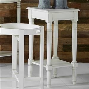 White Square Side Table Ashley Range