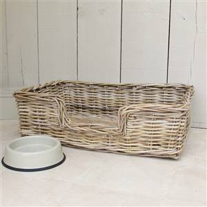 Wicker Dog Bed Basket