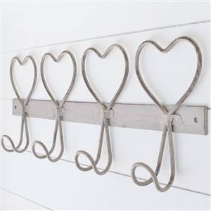 Wire 4 Heart Wall Hook