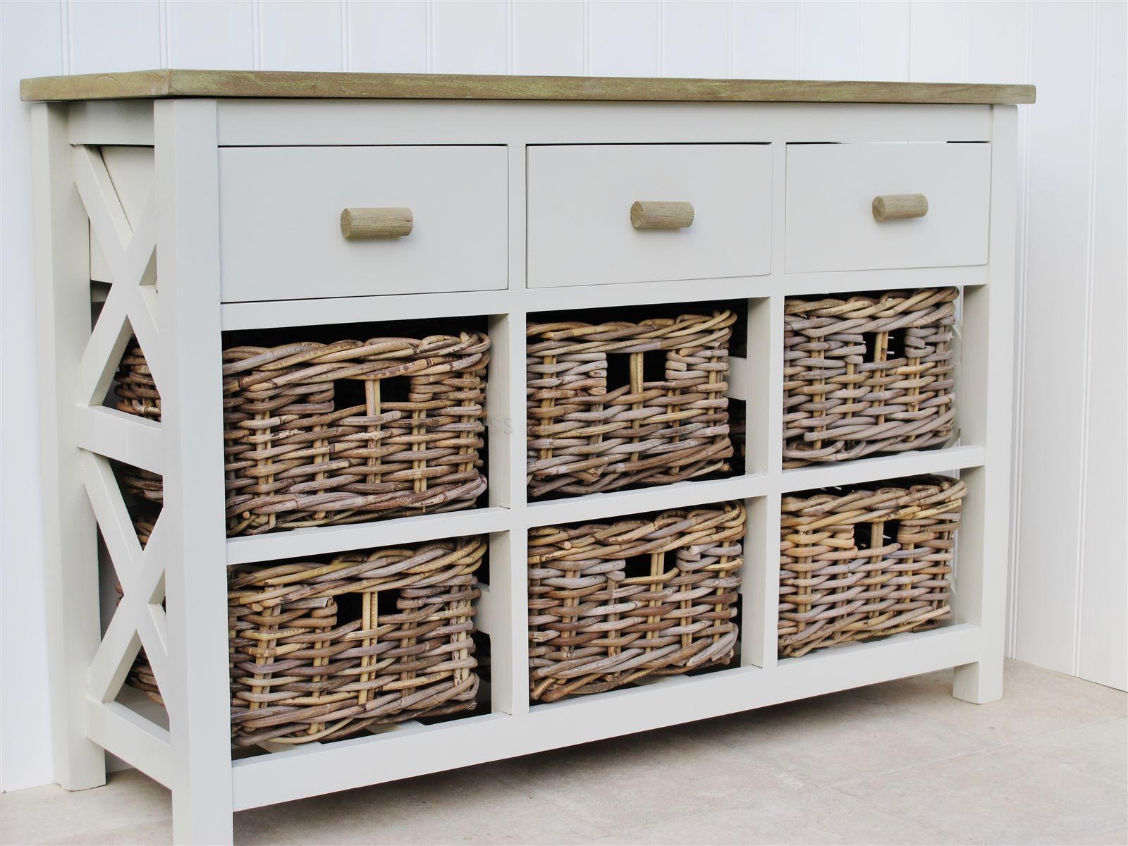 Superbe 9 Drawer Basket Storage Unit ...