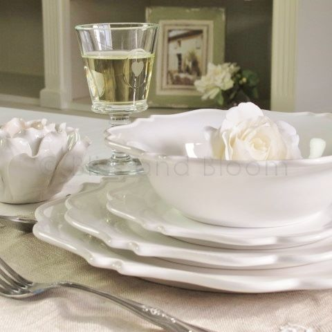 French off-white dinner set 24pc. Hover to zoom Click here for a bigger picture & French off-white dinner set 24pc | Bliss and Bloom Ltd