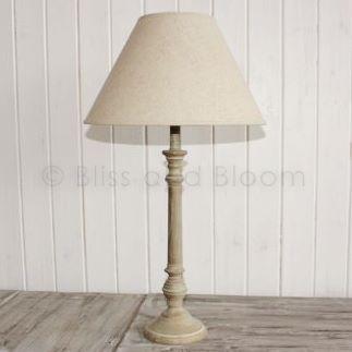 wooden table lamp linen shade h63cm bliss and bloom ltd. Black Bedroom Furniture Sets. Home Design Ideas