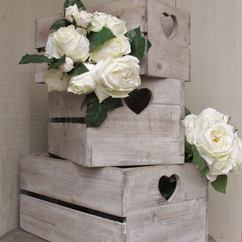 Wooden Heart Crate Storage Box Large. Hover to zoom Click here for a bigger picture & Wooden Heart Crate Storage Box Large | Bliss and Bloom Ltd