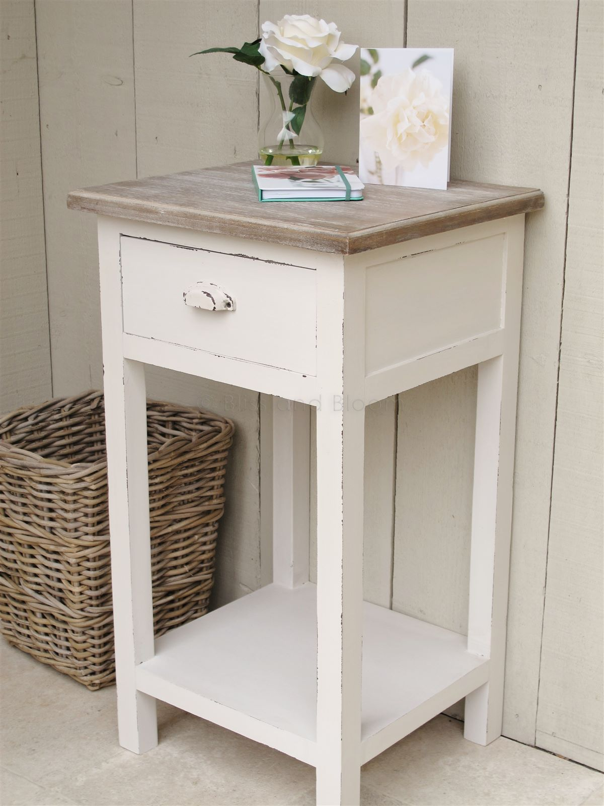 Rustic Painted Nightstands