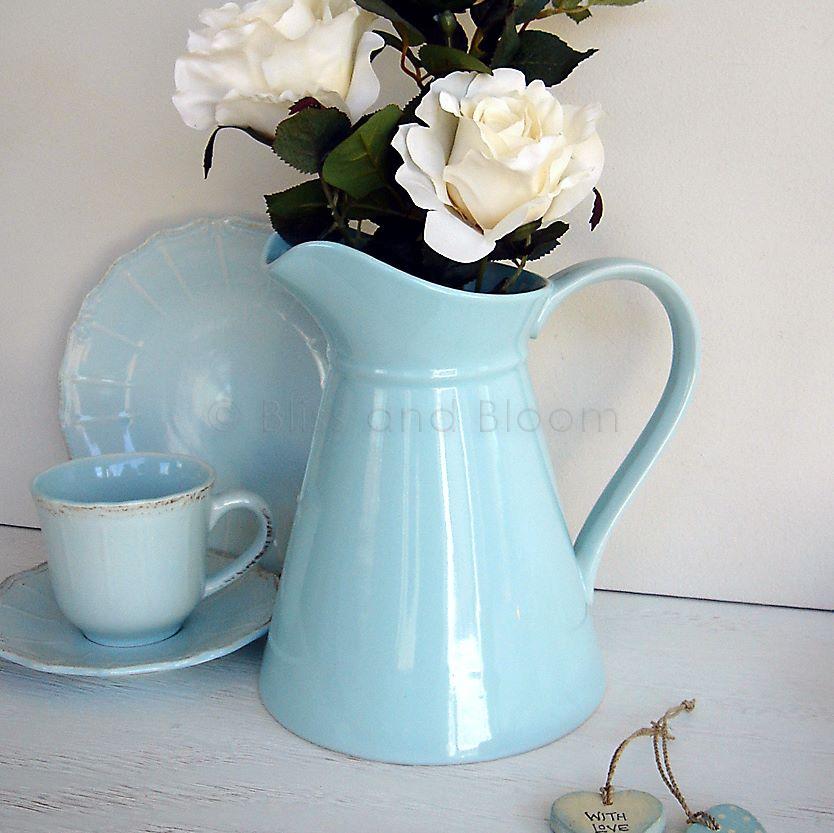 Duck Egg Jug Pitcher Vase Bliss And Bloom Ltd