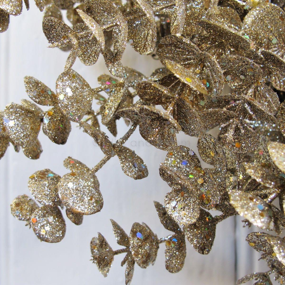 Large Glitter Eucalyptus Wreath Bliss And Bloom Ltd