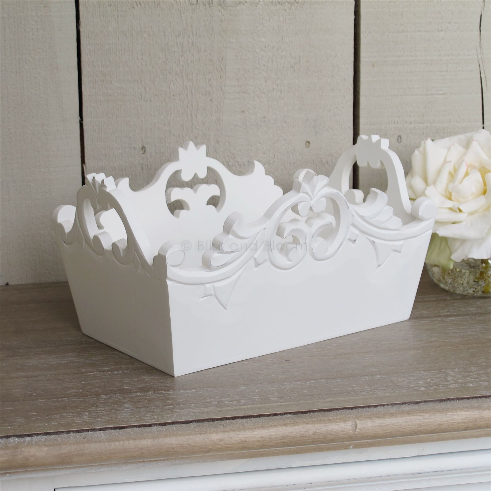 French style white storage box. Hover to zoom Click here for a bigger picture & French style white storage box | Bliss and Bloom Ltd
