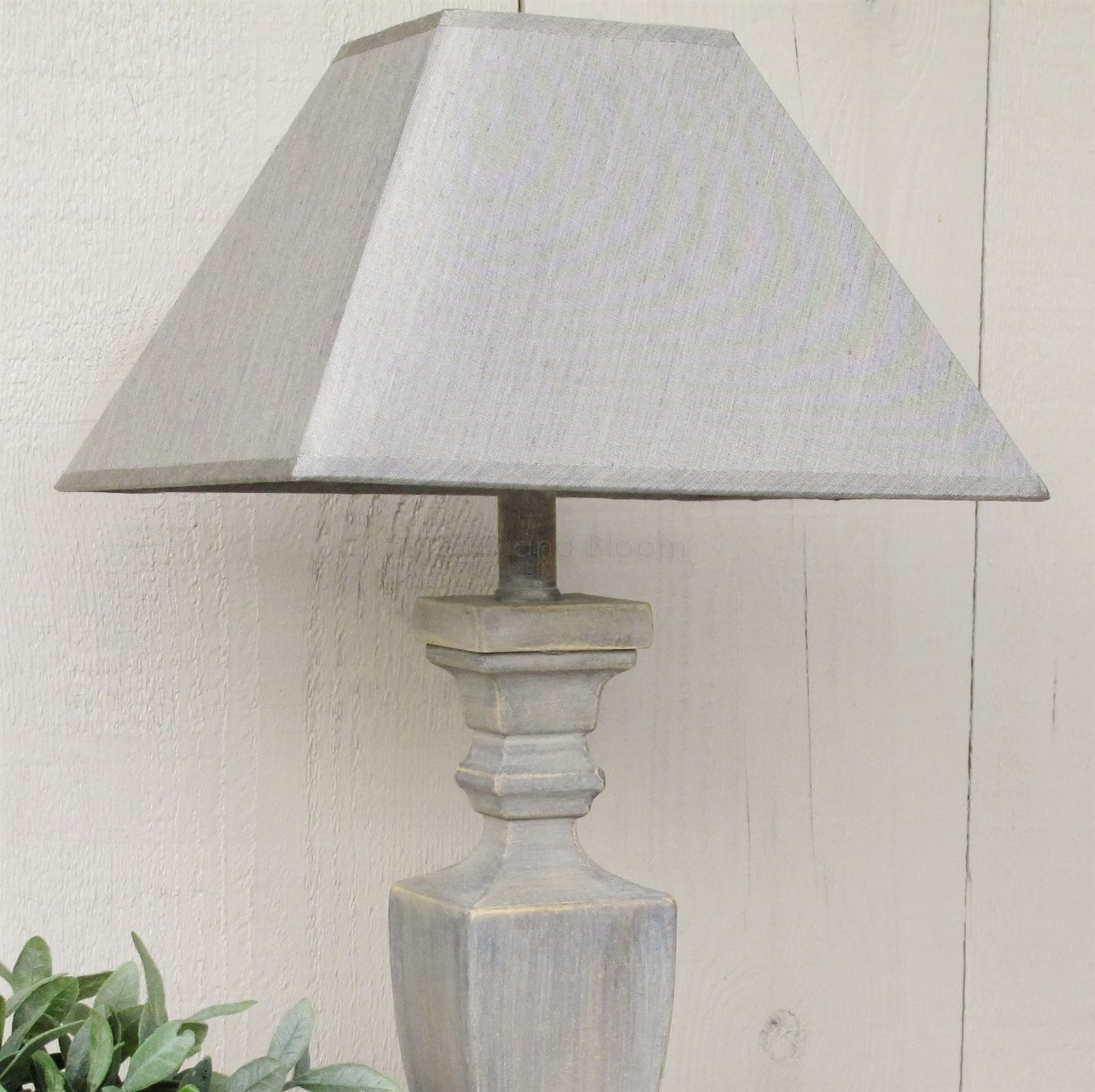Grey Table Lamp And Lamp Shade Bliss And Bloom Ltd