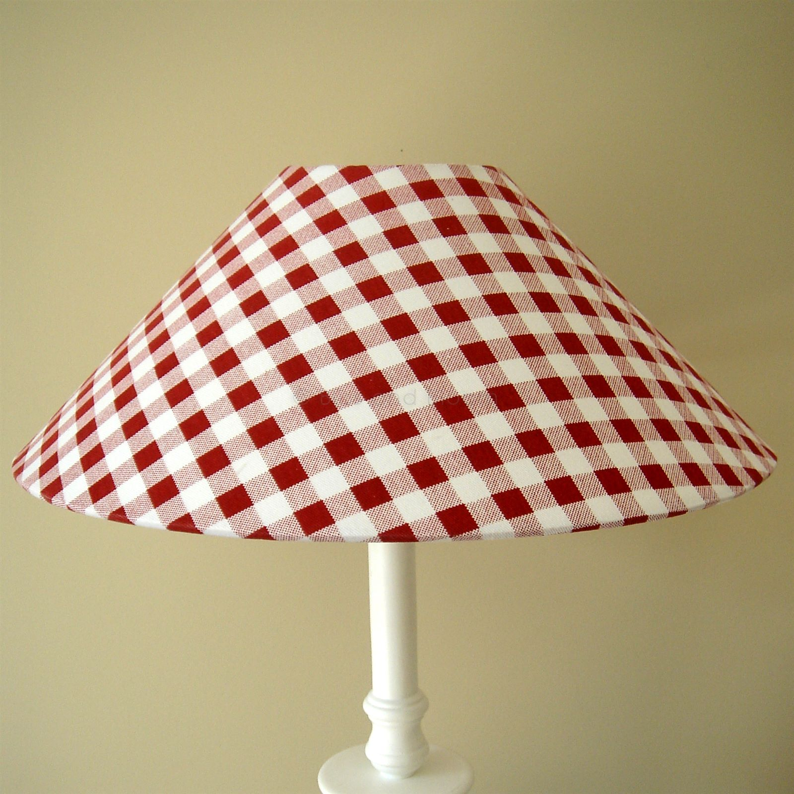 Red Gingham Lamp Shade: Red gingham lampshade. Hover to zoom Click here for a bigger picture,Lighting