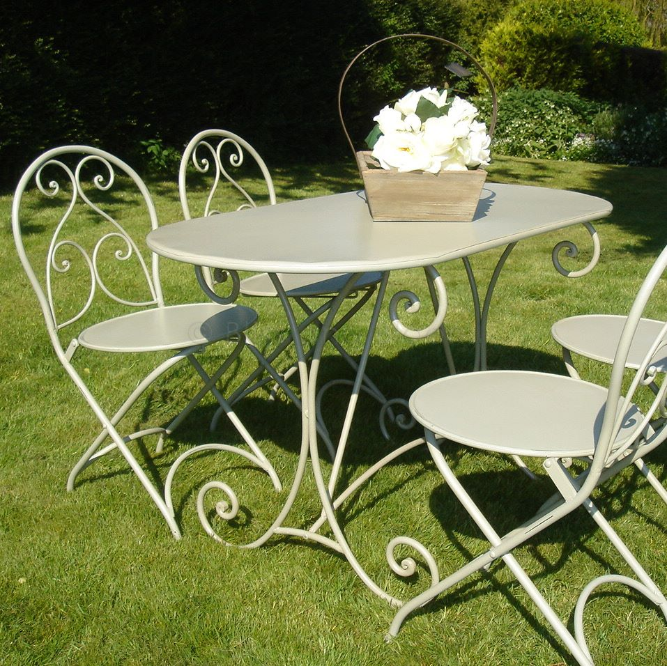 french style garden furniture set bliss and bloom ltd
