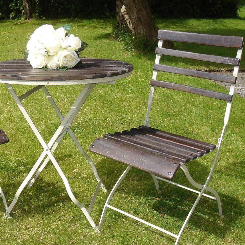 French slatted garden furniture set bliss and bloom ltd