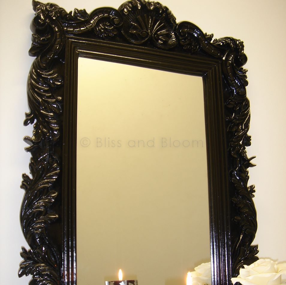 Black wall mirror bliss and bloom ltd for Mirror black