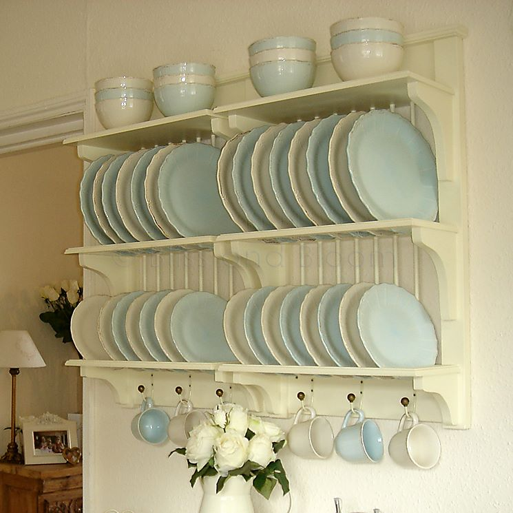 Kitchen Cabinets Plate Rack: Cream Plate Rack SECONDS