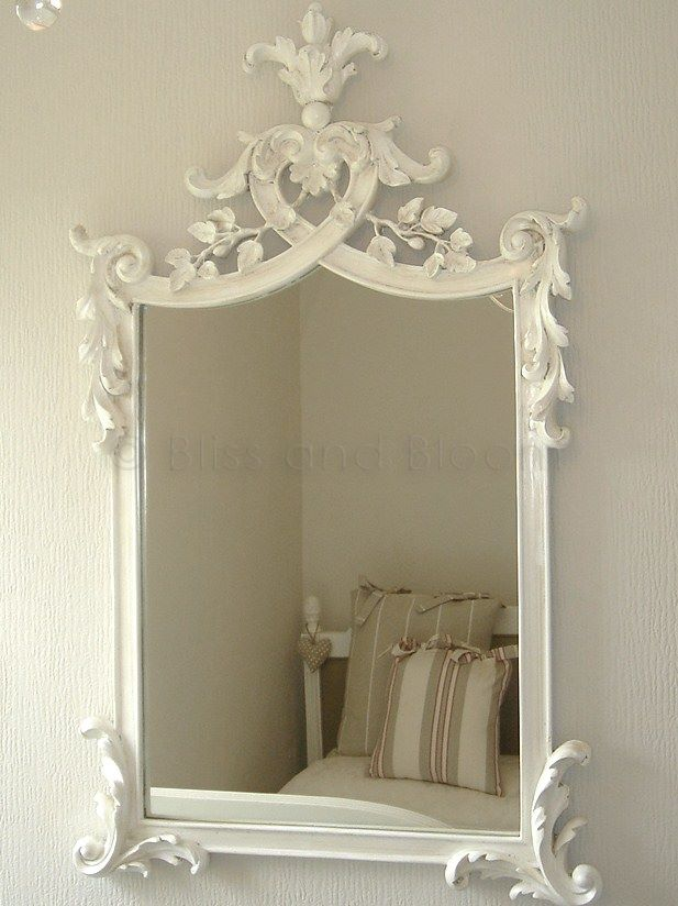 French Style Antique White Mirror Bliss And Bloom Ltd