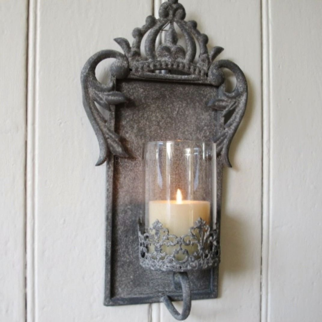 Metal Wall Sconces For Candles : Crown Candle Wall Sconce Bliss and Bloom Ltd