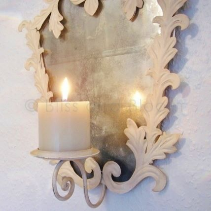 Cream Candle Wall Lights : Ornate candle wall sconce Bliss and Bloom Ltd
