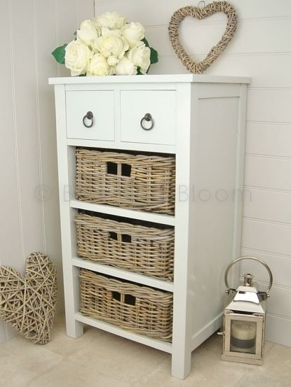 2 drawer / 3 basket storage unit & Drawer Basket Storage Unit | Bliss and Bloom Ltd