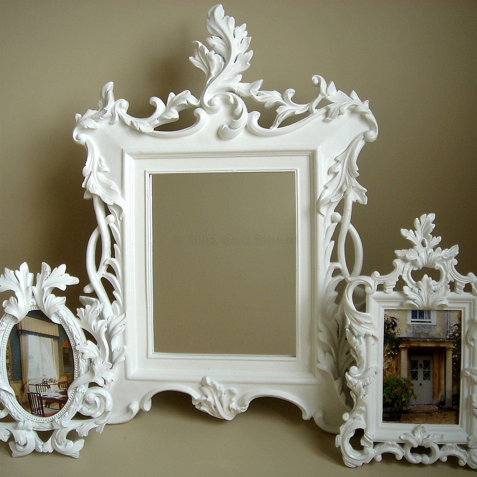 Dorable White Baroque Picture Frame Ensign - Ideas de Marcos ...