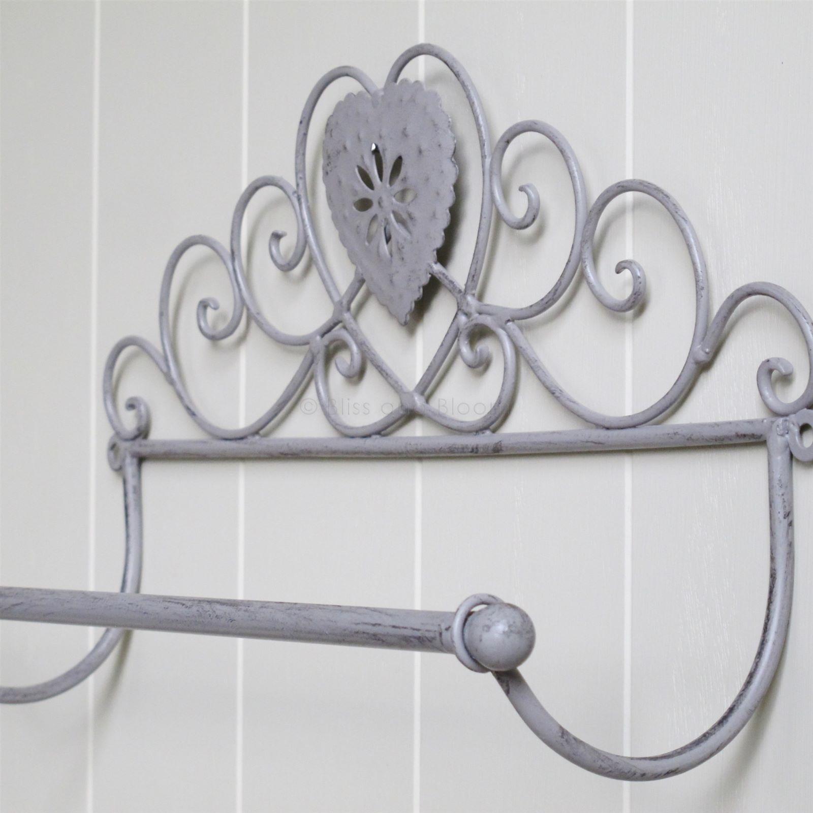 Grey Heart Towel Rail | Bliss and Bloom Ltd