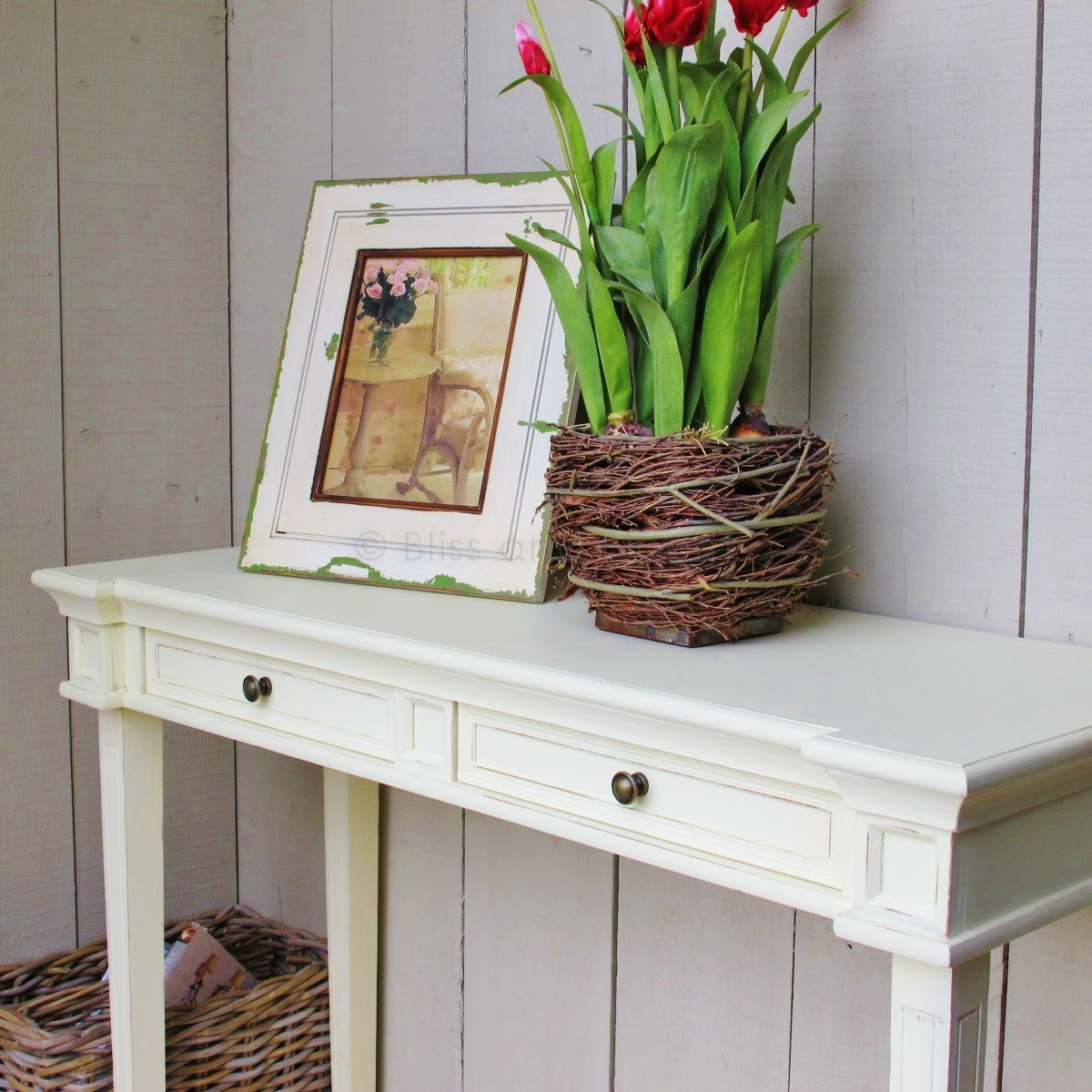 Cream Console Table cream console table seconds | bliss and bloom ltd
