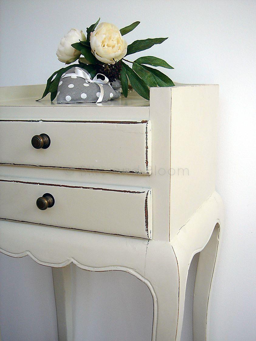 Cream Bedside Tables: Antique-cream Table / Bedside