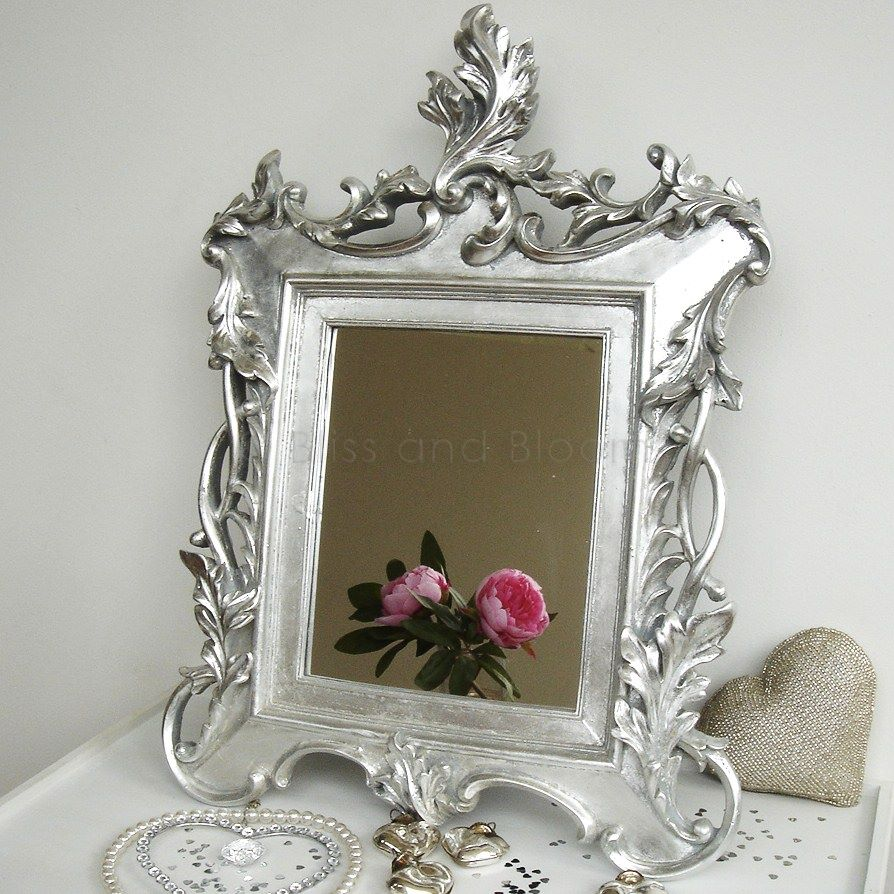 silver baroque mirror bliss and bloom ltd