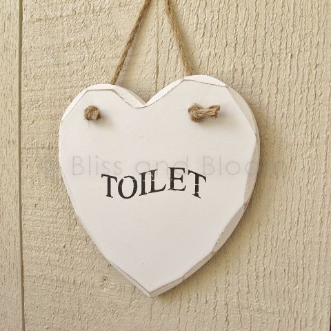 heart toilet plaque sign bliss and bloom ltd. Black Bedroom Furniture Sets. Home Design Ideas