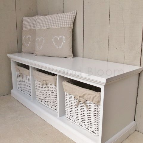 3 Basket Storage Bench Seconds Bliss And Bloom Ltd