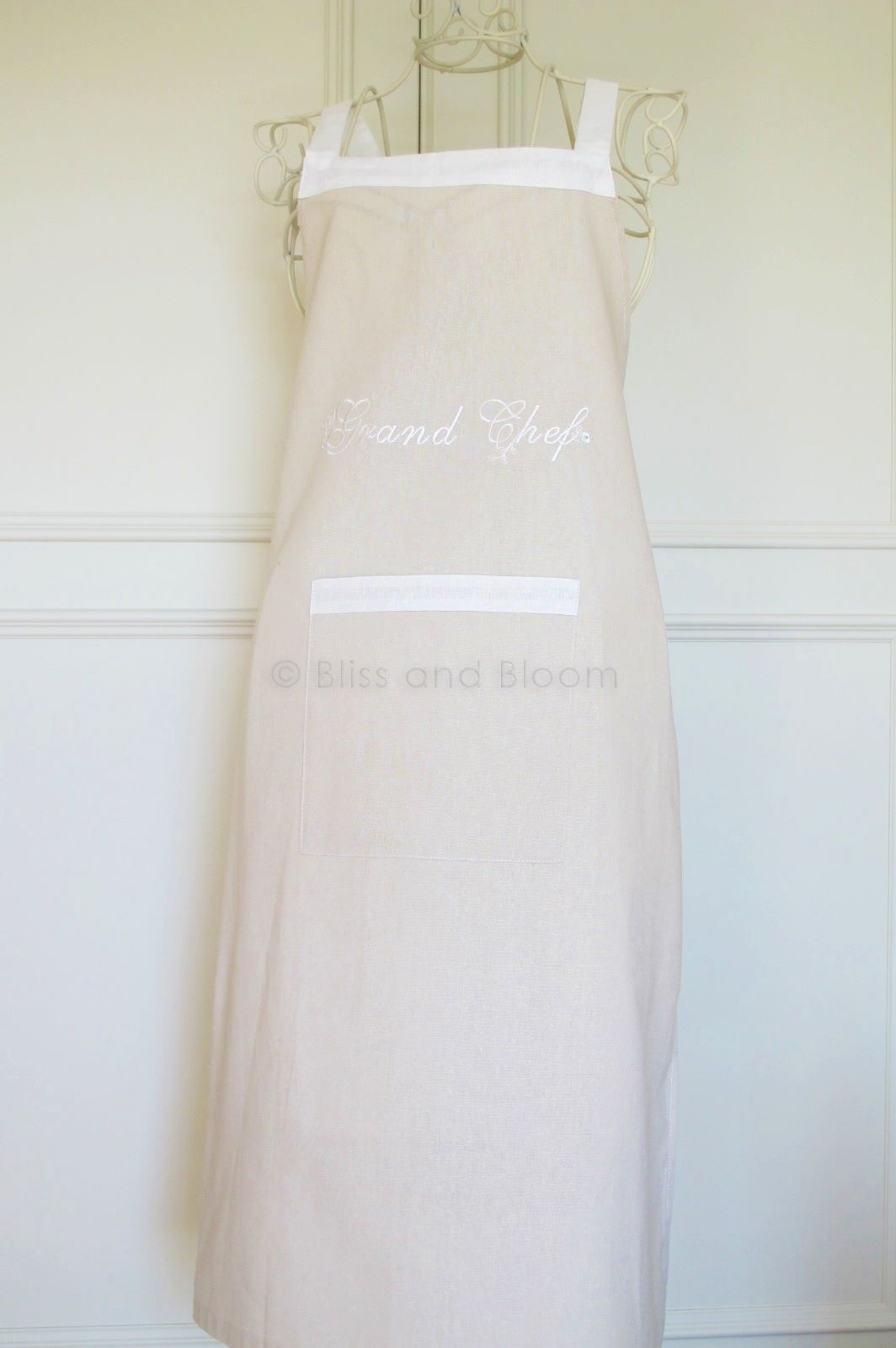 French Style Grand Chef Apron Bliss And Bloom Ltd