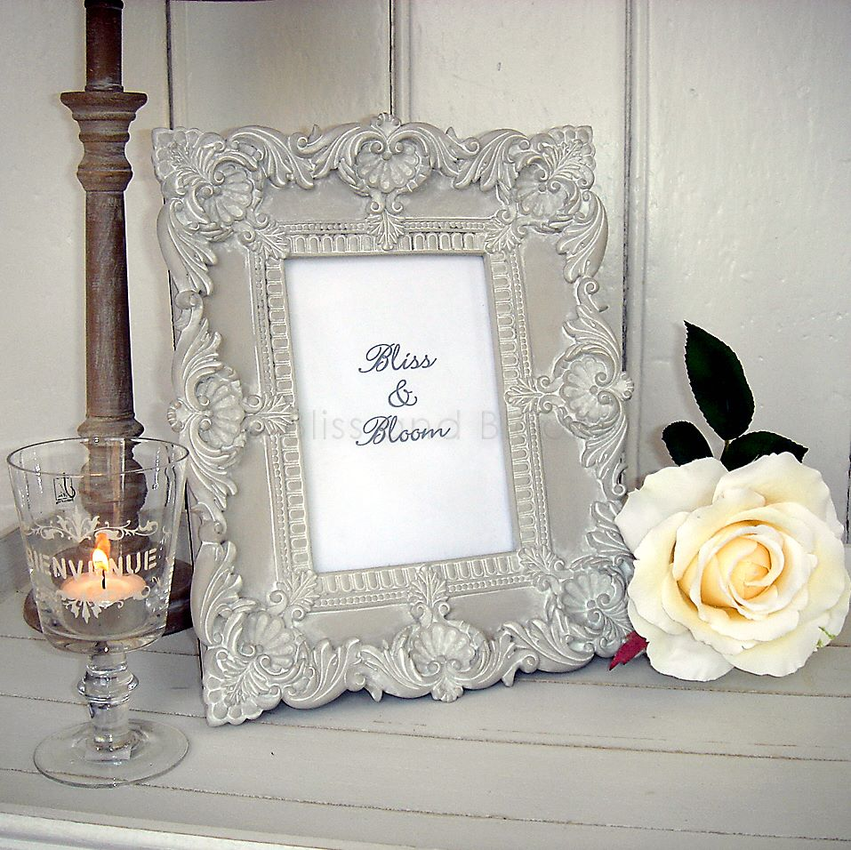 Pale french grey photo frame :: Bliss and Bloom Ltd