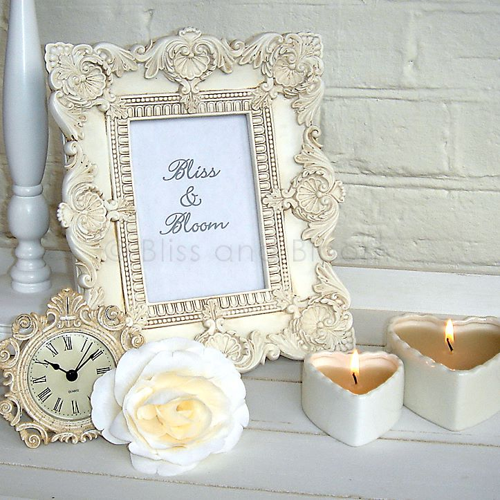Cream baroque photo frame :: Bliss and Bloom Ltd