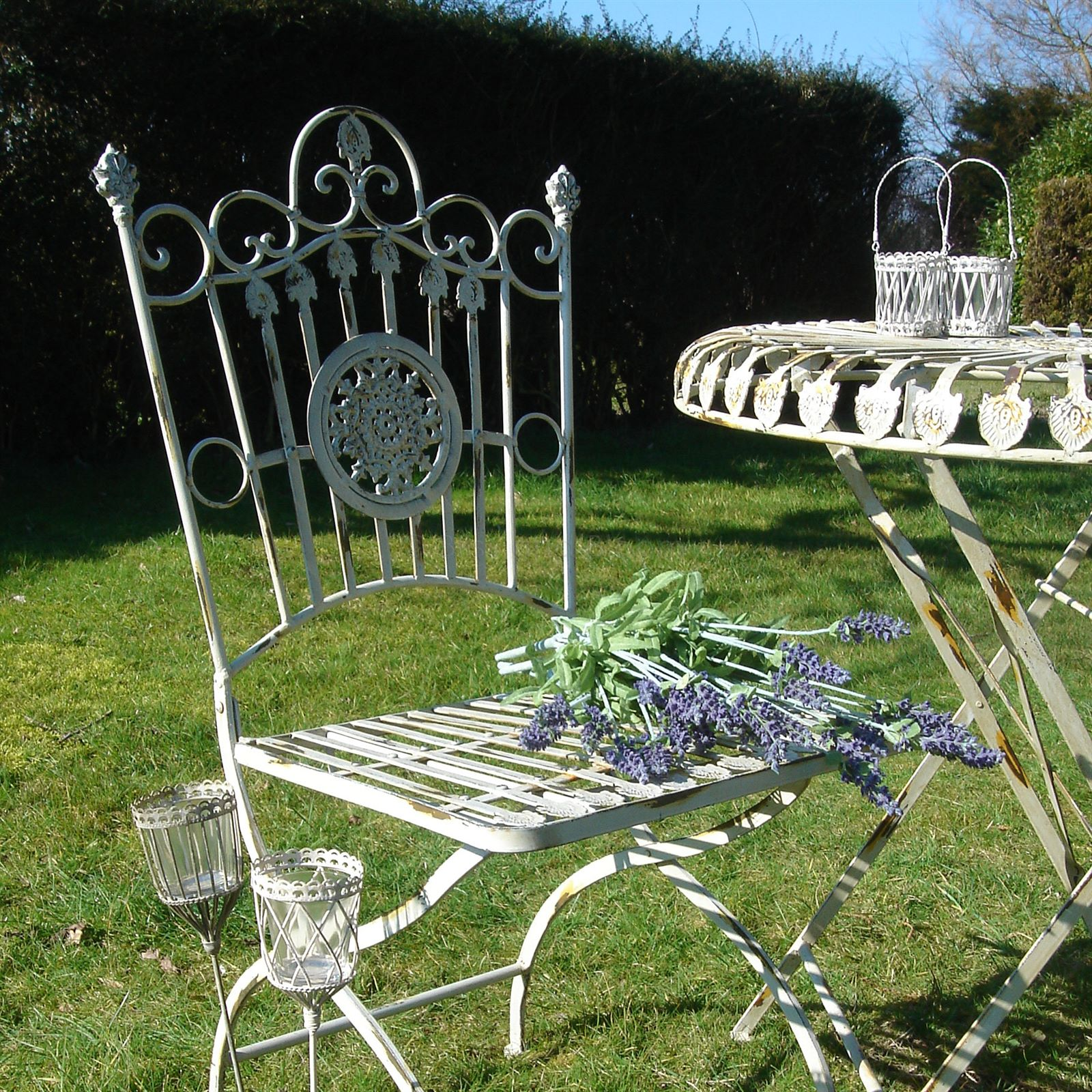 French style garden chair x 2
