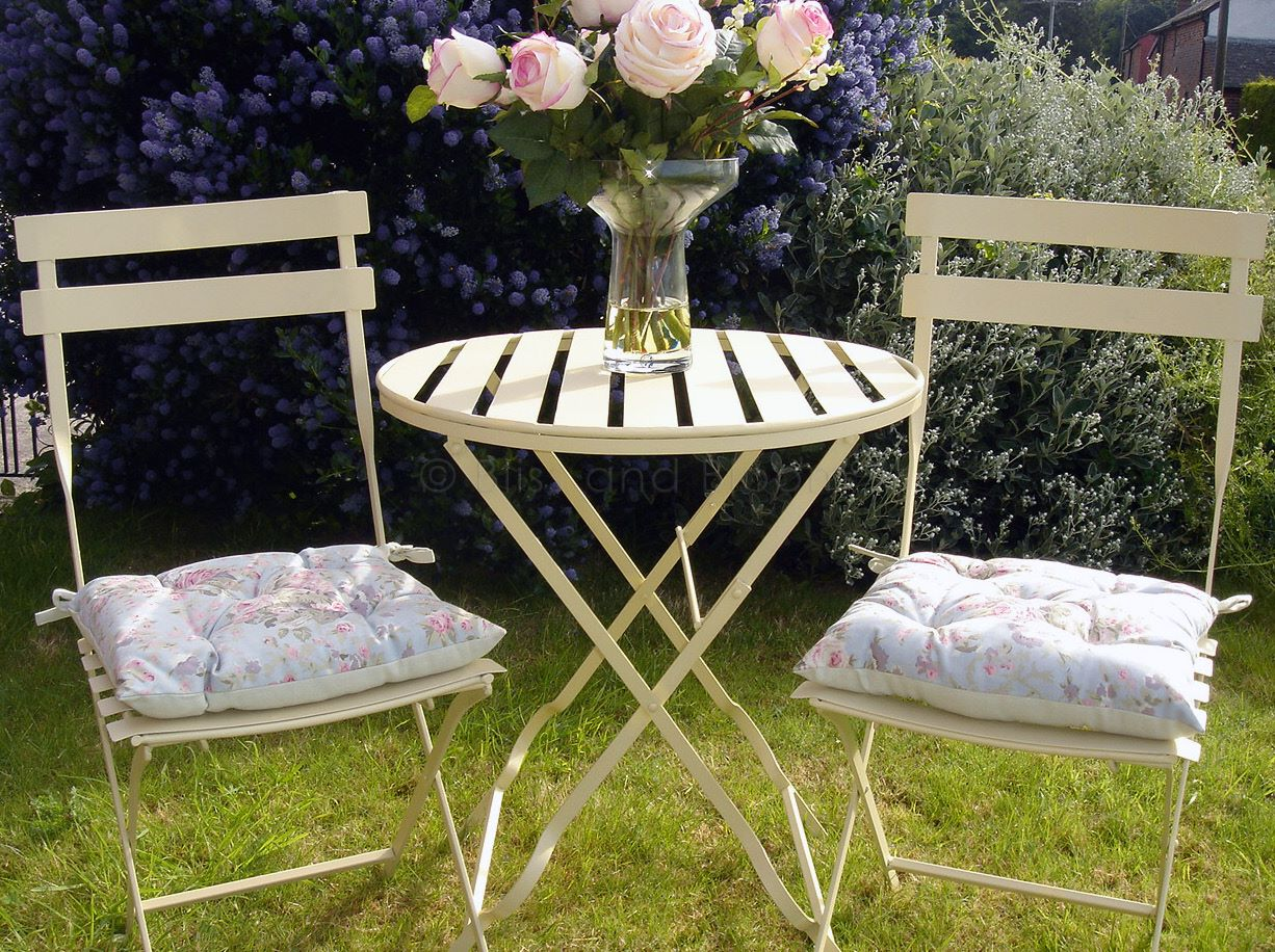 Reduced Cream Metal Bistro Set Bliss And Bloom Ltd