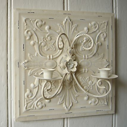 Cream square wall sconce DISCONTINUED Bliss and Bloom Ltd