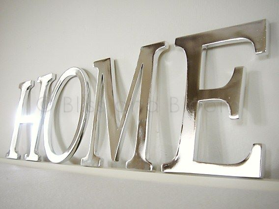 Silver Coloured Home Letters Bliss And Bloom Ltd