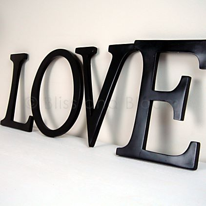 black wall love letters bliss and bloom ltd With black wall letters