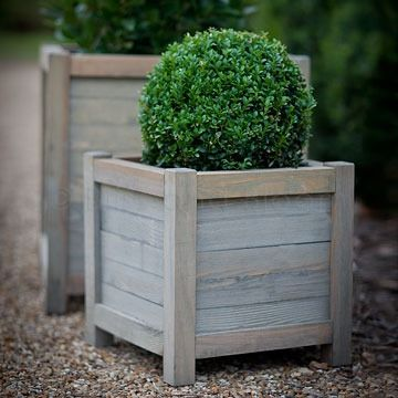 wooden 40cm planter bliss and bloom ltd