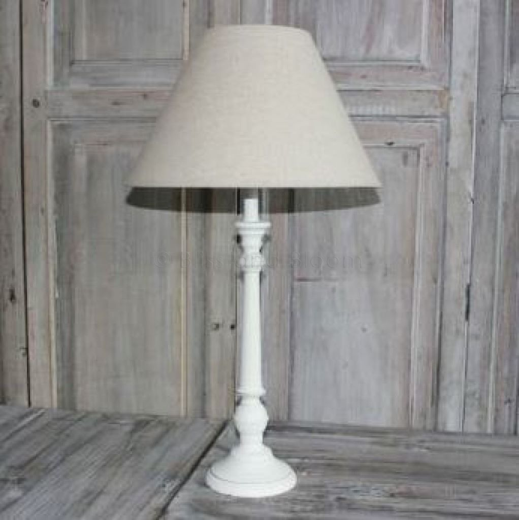Table Lamp Linen Shade 63cm Bliss And Bloom Ltd