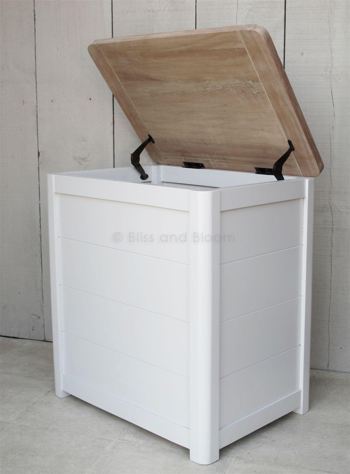 wooden laundry linen bin medium bliss and bloom ltd. Black Bedroom Furniture Sets. Home Design Ideas