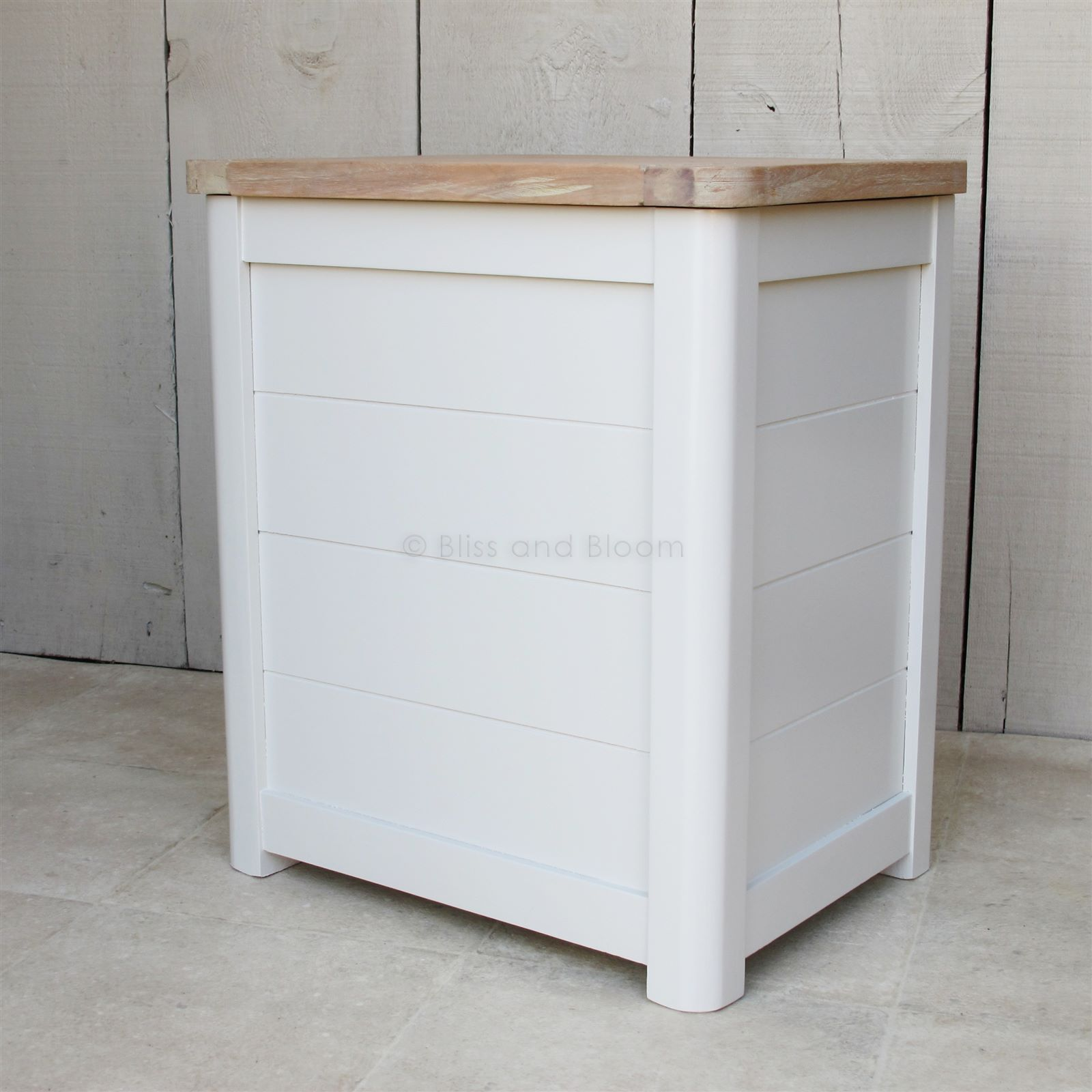 Wooden Laundry Bin Small Bliss And Bloom Ltd