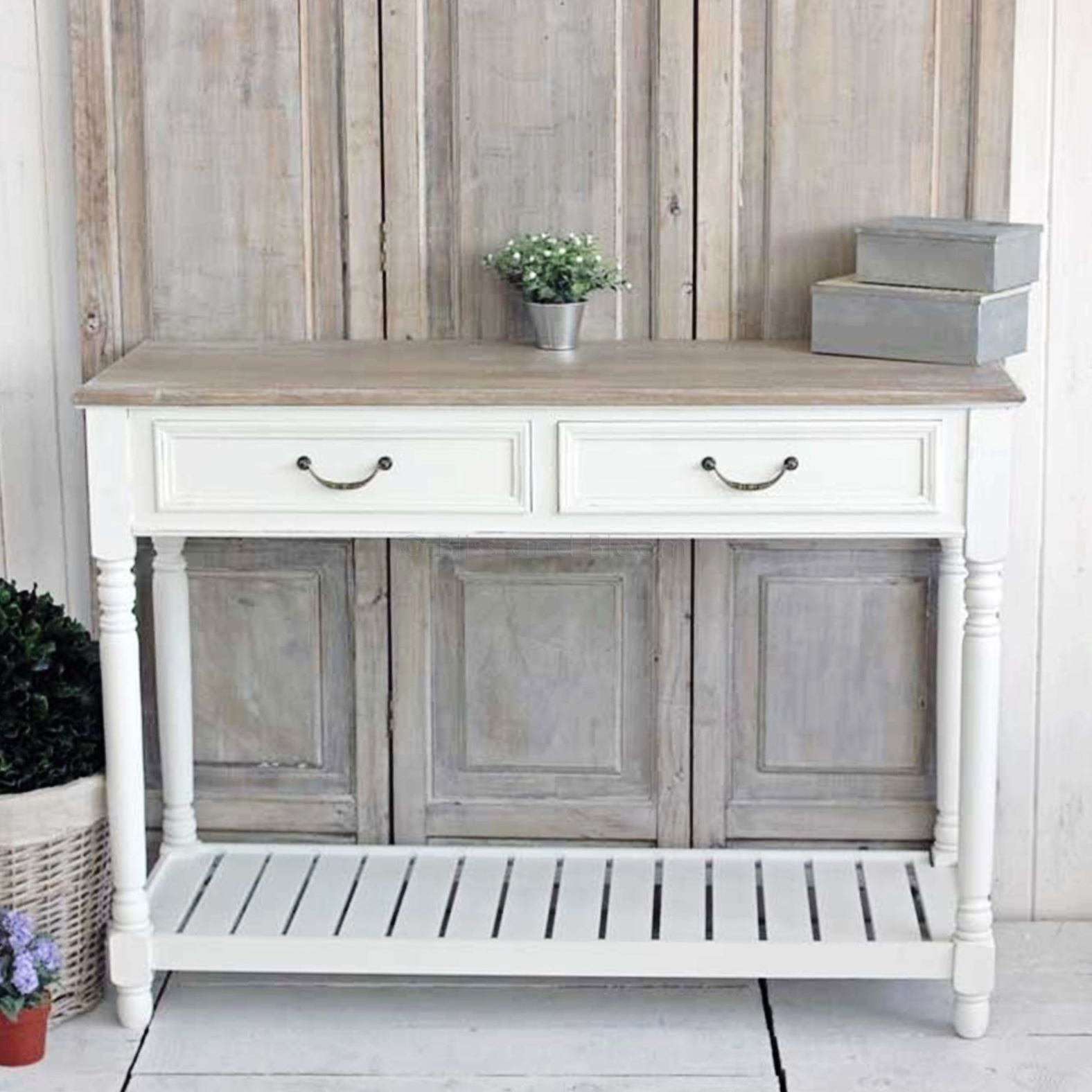 white console table | bliss and bloom ltd