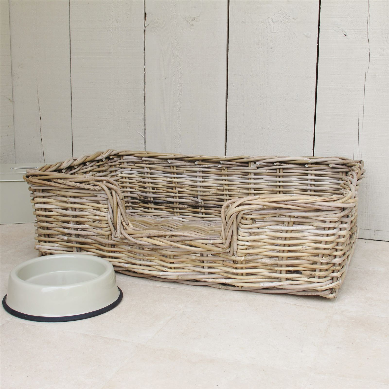 Wicker Dog Bed Basket