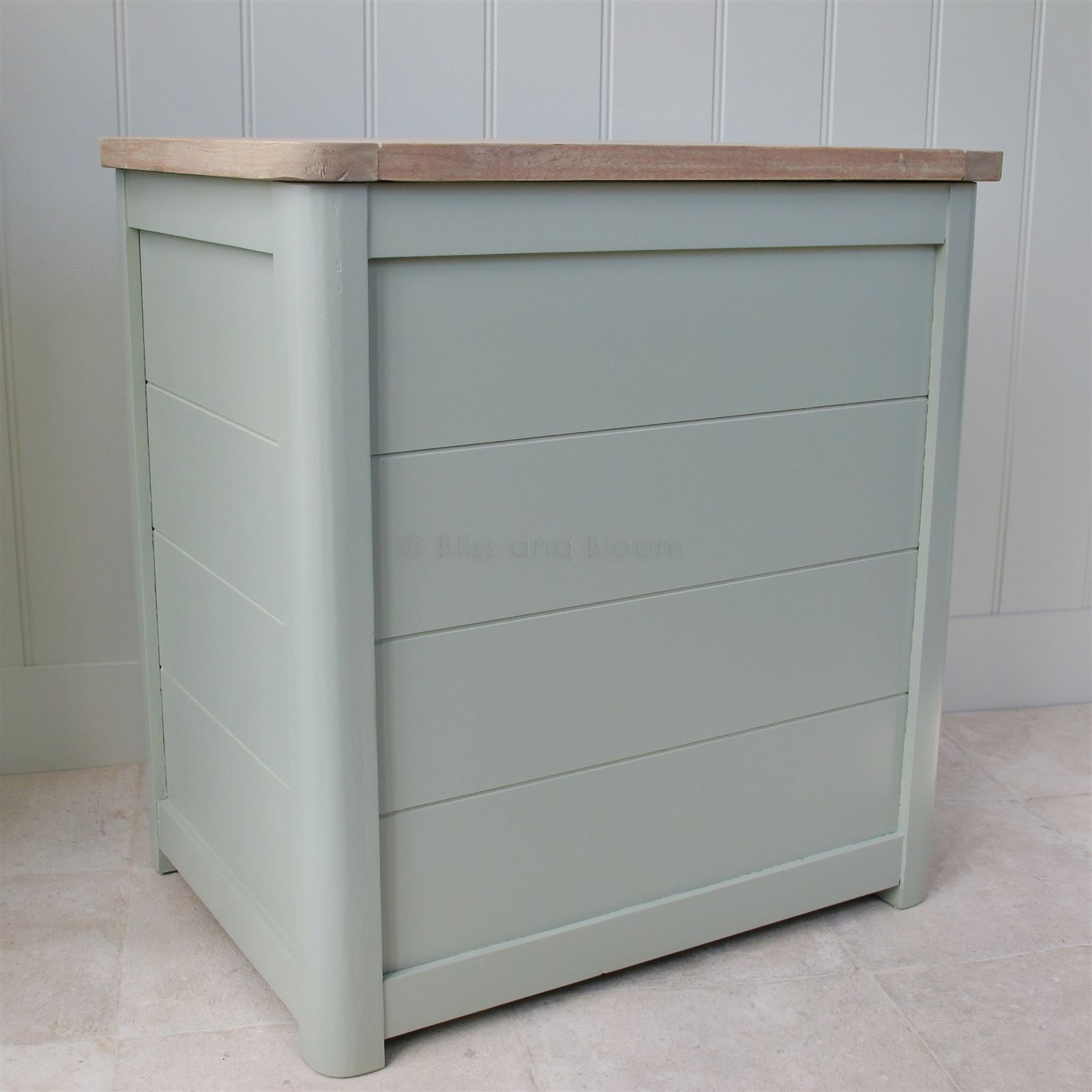 Wooden Laundry Bin Medium | Bliss and Bloom Ltd